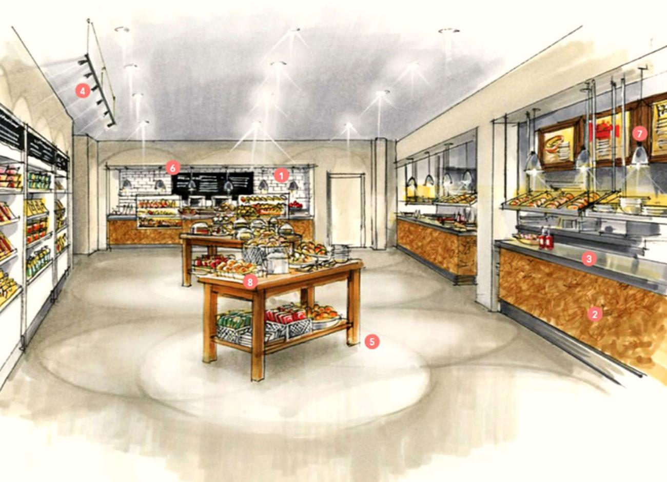 Restaurant designs for university of northampton design